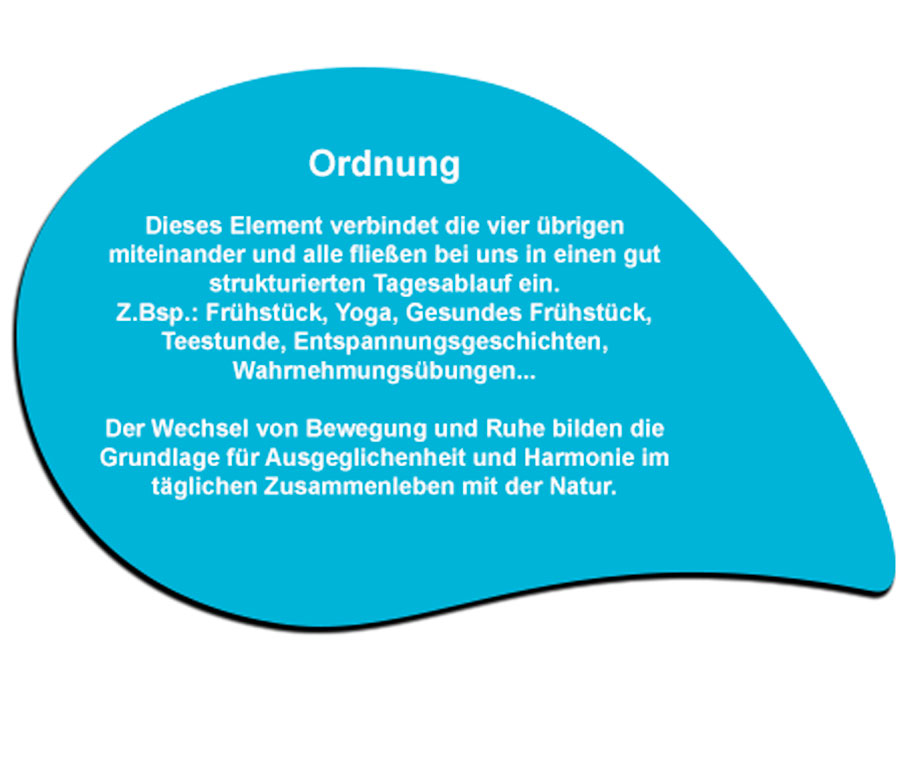 Ordnung - Eine der 5 Säulen des Gesundheitskonzeptes von Sebastian Kneipp